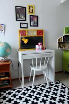 Kids room, daughter`s own desk