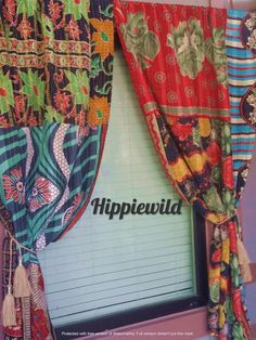 Hippie Bohemian, Bohemian Decor, Canopy Bed Curtains, Bohemian Curtains, Burlap Garland, Hanging Photos, Christmas Pillow, Hanging Wall Art, Hippy