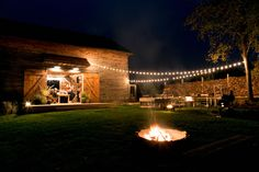 Fire pit at Ravenwood in Upstate, NY, a setting for seasonal farm dinners