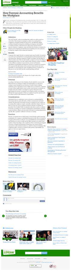 wwwforensiccareersinfo/howtobecomeaforensicaccountant - Forensic Report