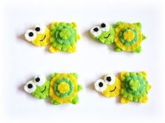 Set of 4 pcs Turtles Handmade Felt Appliques by craftfactory, $5.00