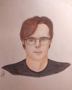 """23 Likes, 1 Comments - Adélka Farky Farkašová (@adelkafarkasova) on Instagram: """"Dr. Daniel Jackson from serial Stargate SG-1 #stargate #stargatesg1 #drawing"""""""