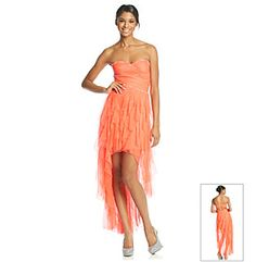 Hailey Logan Strapless Ruffle High Low Gown at www.bonton.com Beach wedding guest