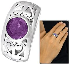 Sterling Filigree & Amethyst Ring - Every Purchase Fights Famine in the Horn of Africa & Combats Hunger in the U.S.