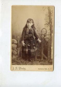 CABINET-CARD-Vintage-Photo-Darling-Little-Girl-Pretty-Dress-Ballston-Spa-NY