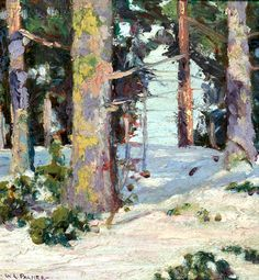 Walter Launt Palmer (American, 1854-1932) Trees in Winter