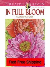 Design Coloring Adults Book Bloom Relax Stress Relieving Fun Beautiful Pattern