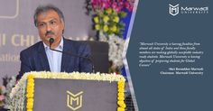 """Few thoughtful words from our Respected Chairman Mr Ketanbhai Marwadi on the inauguration of Marwadi University!! """"Marwadi University is having faculties from almost all states of India and these faculty members are making globally acceptable industry ready students. Marwadi University is having objective of preparing students for Global Careers""""  #ChairmanWords #MarwadiUniversity #Inauguration #GlobalCareer"""