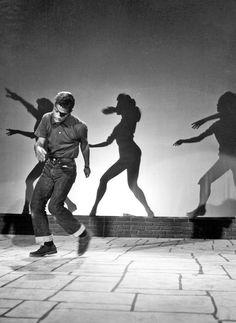 Sammy Davis Jr rehearsing for The Milton Berle Show, 1955