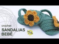 Patrones Crochet, Manualidades y Reciclado: SANDALIAS PARA BEBÉ PASO A PASO A CROCHET CON VÍDEO TUTORIAL Y PATRON