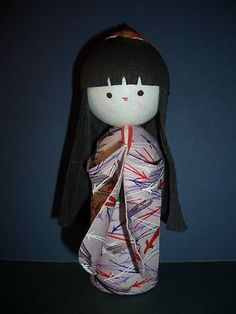 Cute Japanese Kokeshi Doll made out of ORIGAMI Paper