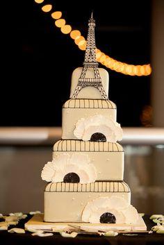 Paris In Spring Wedding Cake