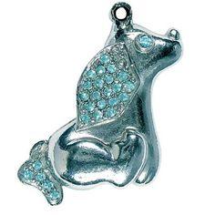 Pingente Cocker Azul São Pet - MeuAmigoPet.com.br #petshop #cachorro #cão #meuamigopet