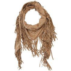 Treasure Fringed scarf ($294) ❤ liked on Polyvore
