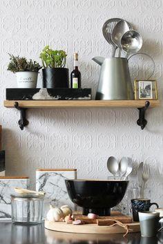 Oak Shelf With Cast Iron Brackets - Small - Bookshelves & Cabinets…