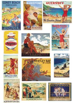 Vintage seaside postcards. These are lovely!