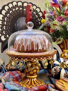 Thanksgiving Turkey, Thanksgiving Recipes, Peanut Cake, Turkey Plates, Pound Cake Glaze, Pheasant Run, Tom Turkey, Winter Table, Faux Bamboo