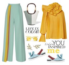 """""""YelloW"""" by erindream ❤ liked on Polyvore featuring Rosie Assoulin, Marni and Anne Sisteron"""