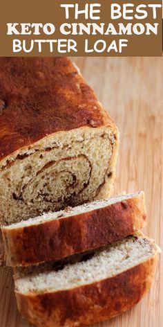 The Best Keto Cinnamon Butter Loaf - Best Gift 2020 Desserts Keto, Keto Snacks, Dessert Recipes, Dinner Recipes, Kings Bread, Keto Bread Coconut Flour, Honey Bread, Olive Bread, Oat Flour
