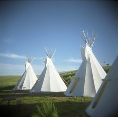 Teepee camping in southern #Saskatchewan.
