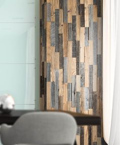 Decorative Wall Panels From Reclaimed Wood Decorative Wall Panels, Floor Ceiling, Wood Panel Walls, Wall Cladding, Shape And Form, Beautiful Textures, Barn Wood, Home Remodeling, Cool Designs