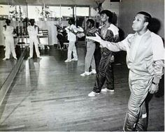 REHEARSAL IN 1984 AND WOW...I SEE BROOKE PAYNE IN THE CORNER MAKING SURE EVERYTHING IS RIGHT.
