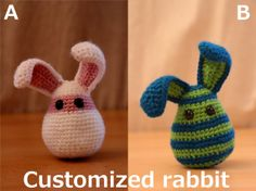 Customize your own crocheted bunny. €12,00, via Etsy.