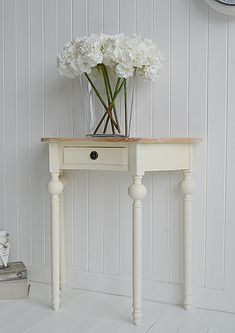 Cream Hall Table cream-french-country-shabby-chic-half-moon-1-drawer-console-hall