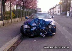 Jaguar XK8 crashed in Nanterre, France