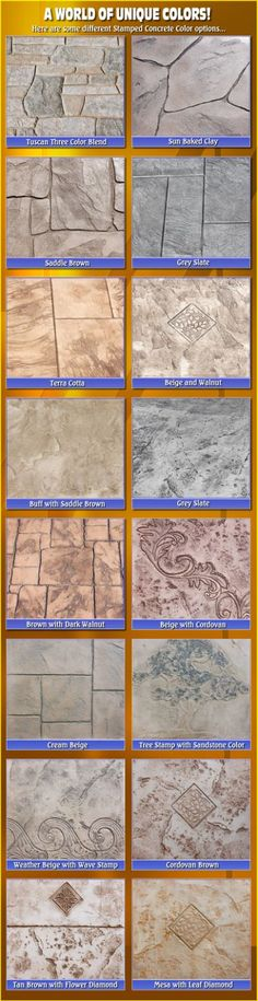 Stamped Concrete Colors Biondo