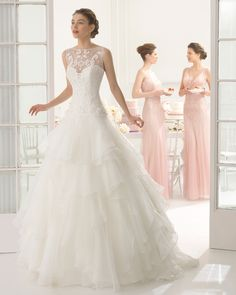 eadf76770d64 ANAND - Guipure and organza dress with beading in a natural colour. Summer  Wedding Gowns