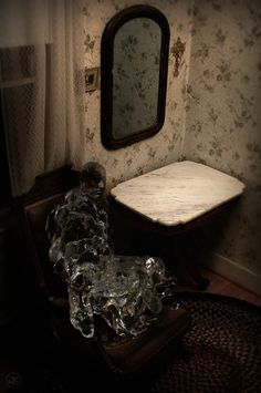 Part of a series combining water droplets filmed at high-speed and daguerreotype images to create ghostly apparitions.  #water #daguerreotype #photography #photomanipulation #ghost