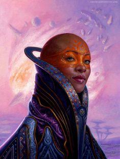 Black people in fantasy, sci-fi, and surreal art. African American Artist, American Artists, African Art, Black Women Art, Black Art, Max Black, Futurism Art, Retro Futurism, Character Art