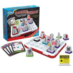 Laser Maze by Thinkfun. A logic and maze game that allows includes the use of Lasers! Logic Games, Logic Puzzles, Grid Puzzles, Maze Puzzles, Gifts For Boys, Toys For Boys, Kids Toys, Girls Presents, Mind Challenging Games