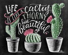 Cactus impresión impresión suculenta lámina Cactus por TheWhiteLime