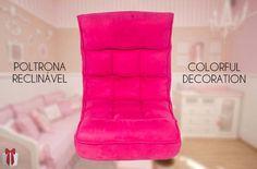Olha que chique para decoração. Poltronas reclináveis de chão. E ainda tem mais, 12 modelos e cores diversas para escolher qual combina com você. Se joga nessa confortável ideia.  #Conforto #Decoração #AdoroPresentes #Colorido #PoltronaReclinável #PoltronadeChão #Poltrona