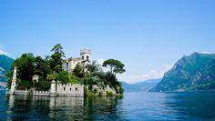 Loreto Island in Lake Iseo, Brescia, Italy