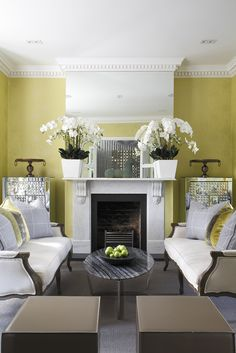 Yellow sitting room by Stephen Ryan