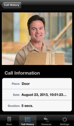 Jung Door Control Module app for iPhone - historical door visitor detail