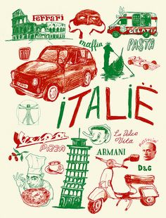 Vintage Italy poster