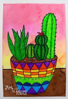 Art with Mrs. Nguyen: Succulent Garden Still Lifes (5th)