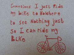 Bike Card - Post Consumer Recycled. $6.00, via Etsy.