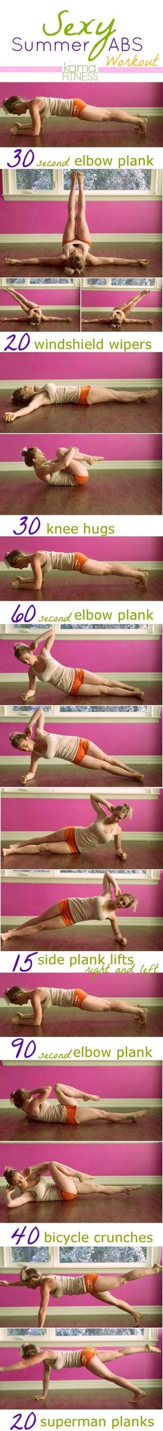 Sexy Summer Abs Workout ~ Abs Workout To Burn Your Belly Fat - To Stay Fit