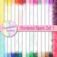 Bordered Papers Set 1 - Chantahlia Design Free digital papers with borders in 36 colours. Use them in your digital scrapbooking or other digi Digital Paper Free, Free Paper, Digital Papers, 12x12 Scrapbook Paper, Scrapbook Pages, Scrapbook Layouts, Paper Bead Jewelry, Digital Scrapbooking Freebies, Borders For Paper