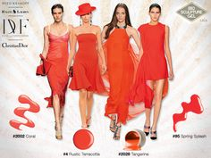 InStyle Spring Fashion Trends Like A Flame Christian Dior, Next Trends, Bernabeu, 2014 Fashion Trends, Ralph Lauren, Instyle Magazine, Lilac Dress, Lady In Red, Fashion Dresses