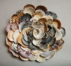 Seashell Flower Wall Sculpture Beach Wall Art by tropEEcal on Etsy, $64.99