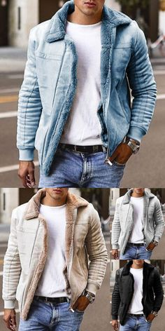 Mens Fall Outfits, Stylish Mens Outfits, Stylish Clothes For Men, Warm Coats For Men, Winter Coats, Fall Winter, Blazers For Men Casual, Sneakers Mode, Men Sneakers