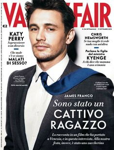 James Franco the Cover Model: From GQ to Vogue  image vanity fair italia september 2013 james franco cover