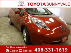 2012 *Nissan*  *LEAF*   48k miles $7,993 48694 miles 408-331-1619 Transmission: Automatic  #Nissan #LEAF #used #cars #ToyotaSunnyvale #Sunnyvale #CA #tapcars