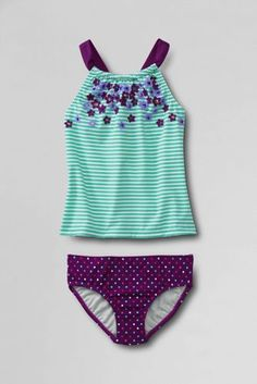 Girls' Sea Garden Floral Tankini Set from Lands' End